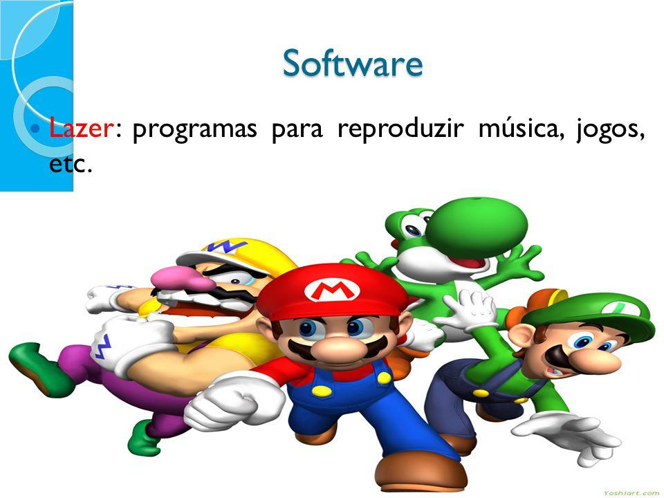 Software Lazer: programas para reproduzir música, jogos, etc.