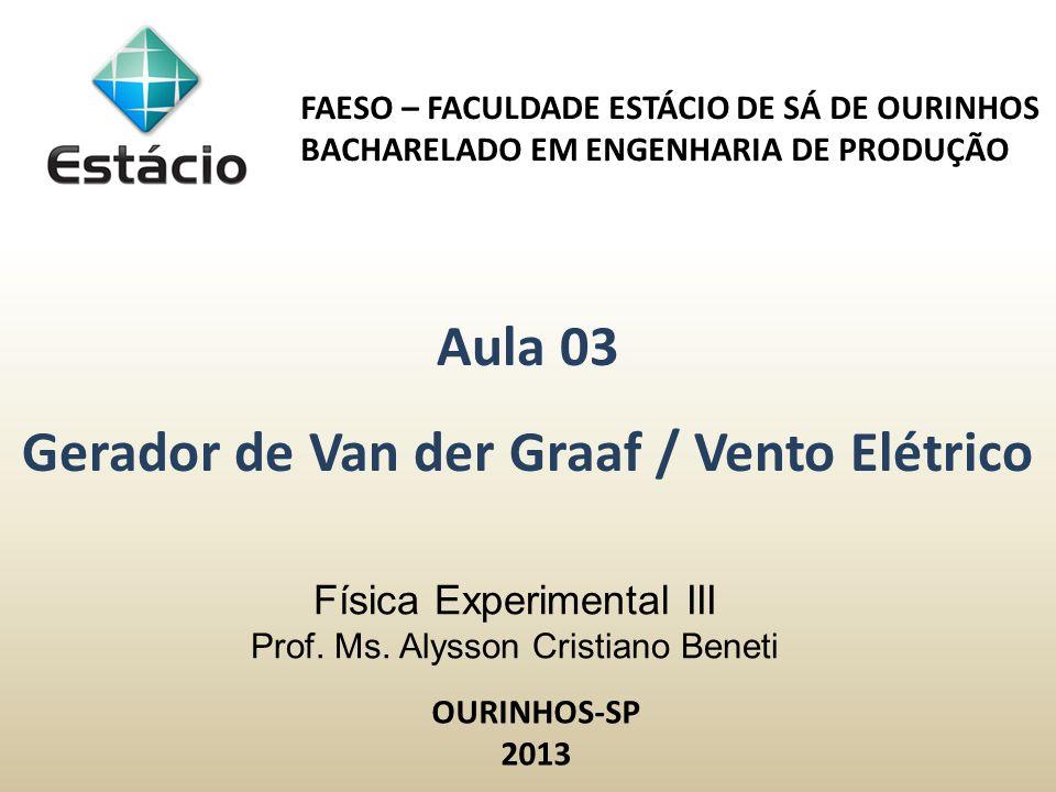 Física Experimental III Prof. Ms. Alysson Cristiano Beneti