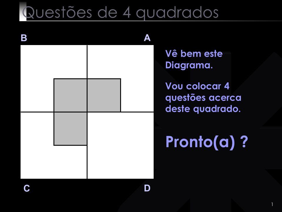 Questões de 4 quadrados Pronto(a) B A Vê bem este Diagrama.