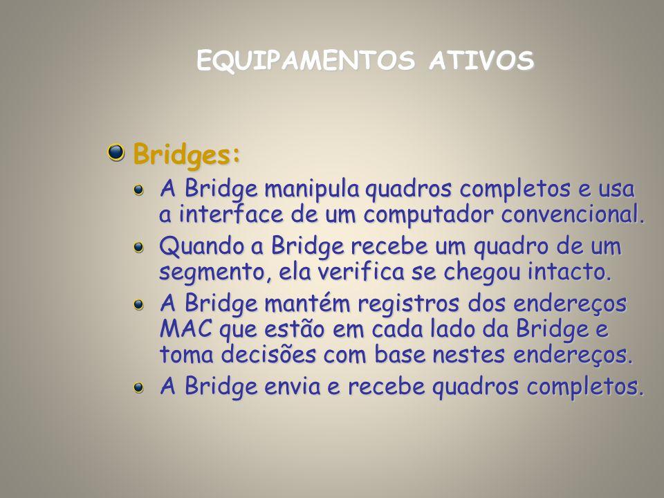 Bridges: EQUIPAMENTOS ATIVOS