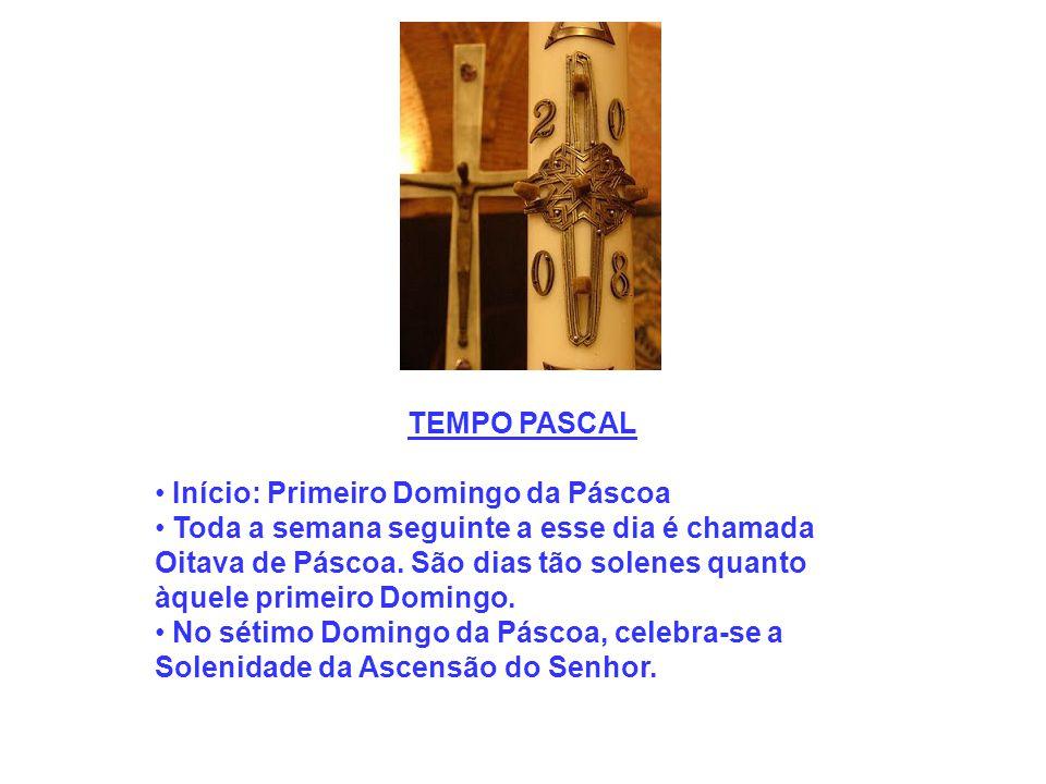 TEMPO PASCAL Início: Primeiro Domingo da Páscoa.