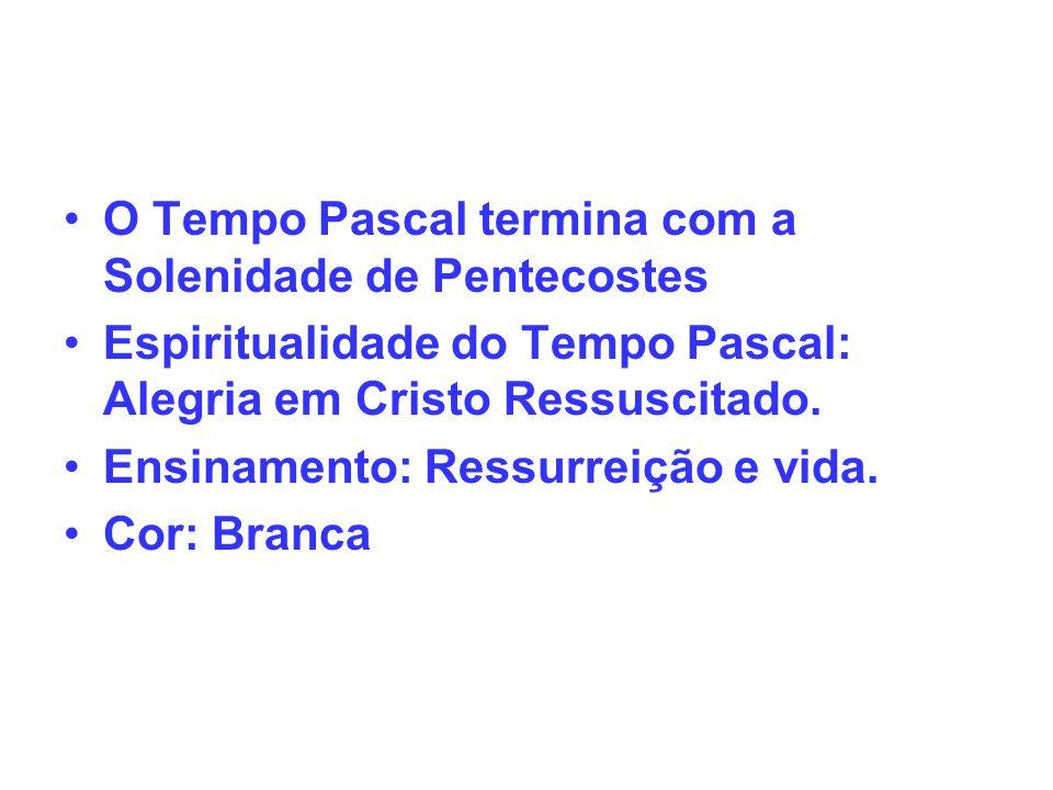 O Tempo Pascal termina com a Solenidade de Pentecostes