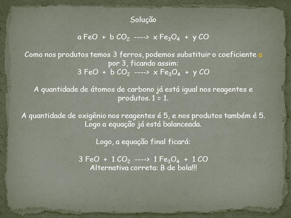 a FeO + b CO2 ----> x Fe3O4 + y CO