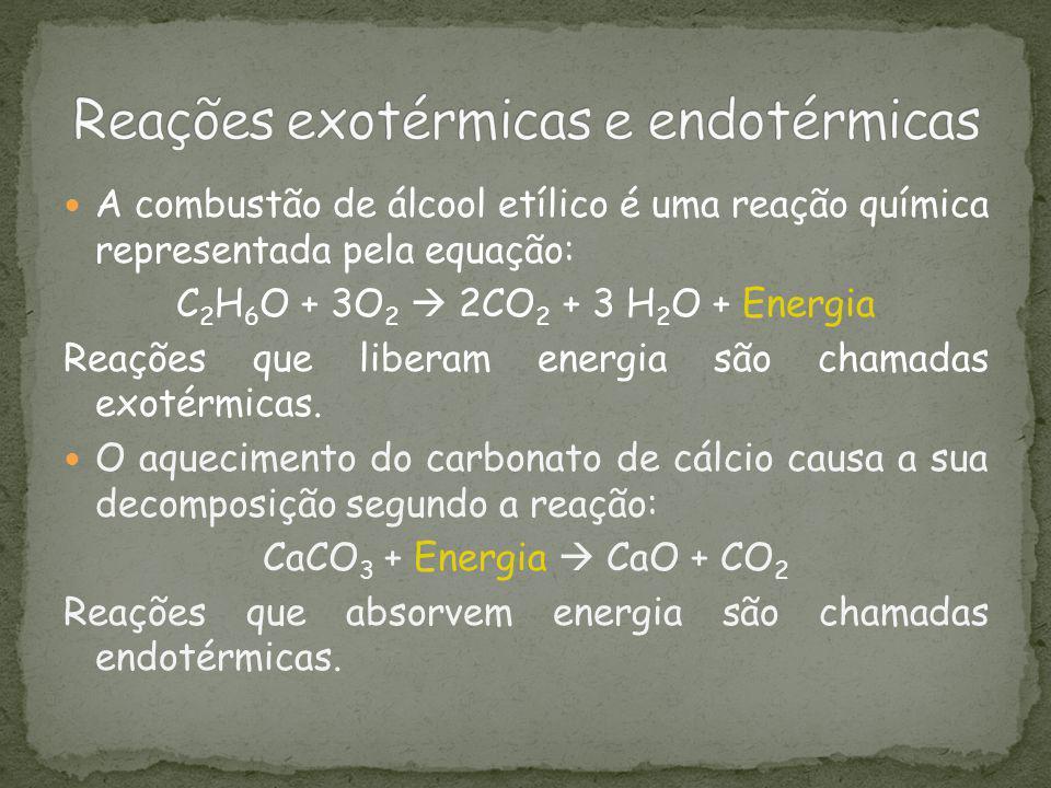 Reações exotérmicas e endotérmicas