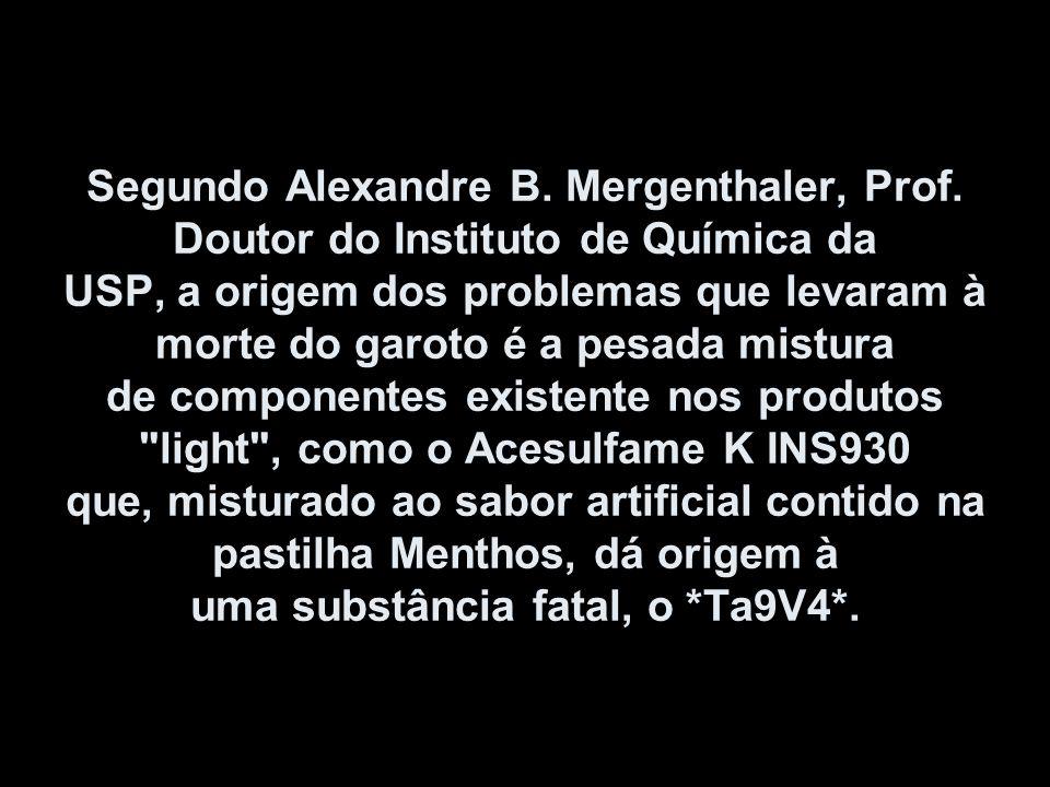 Segundo Alexandre B. Mergenthaler, Prof