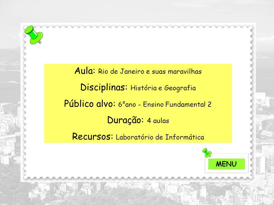 Aula: Rio de Janeiro e suas maravilhas