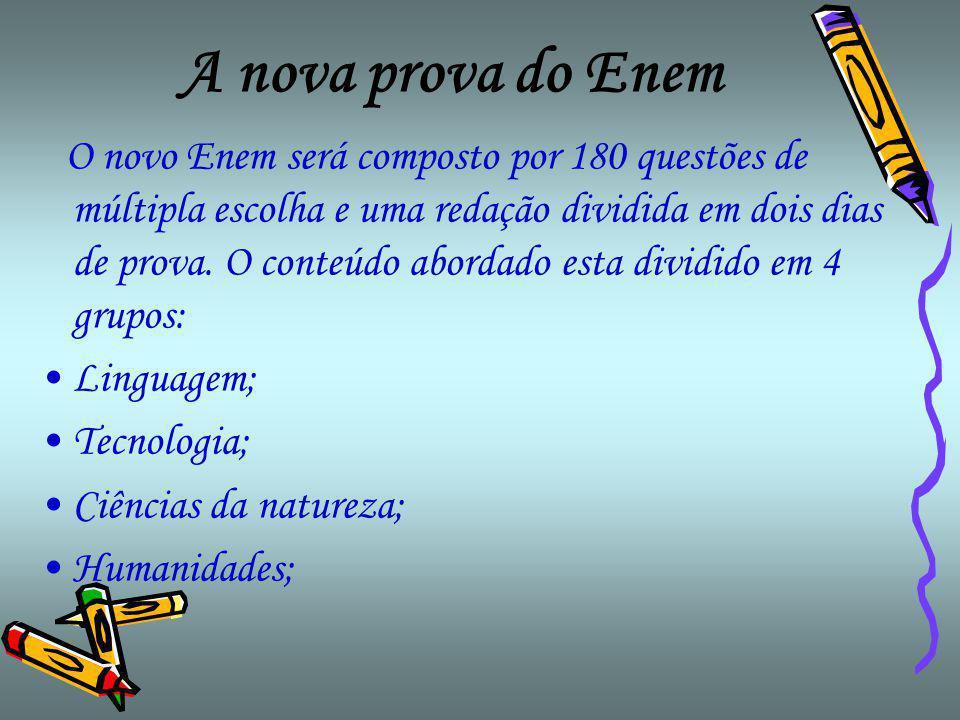 A nova prova do Enem