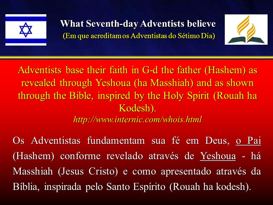 What Seventh-day Adventists believe