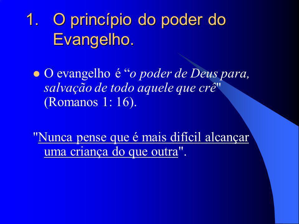 O princípio do poder do Evangelho.