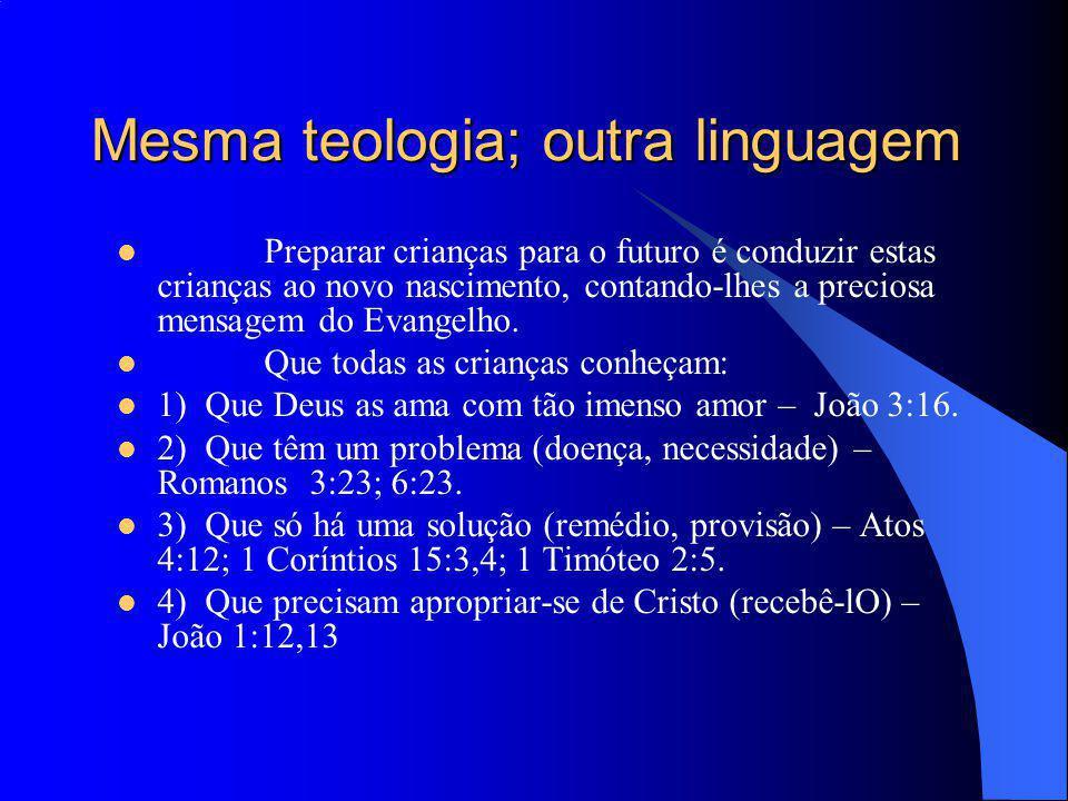 Mesma teologia; outra linguagem