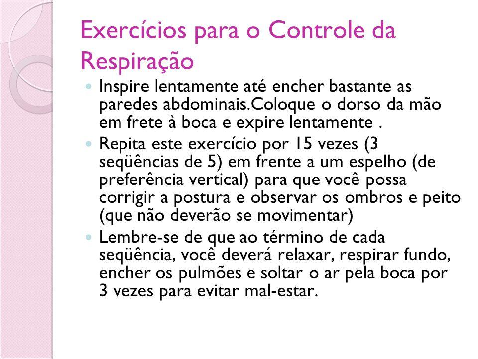 Exercícios para o Controle da Respiração