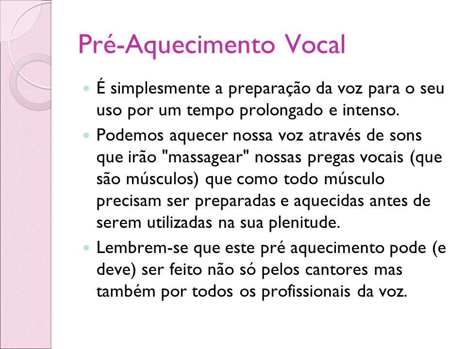 Pré-Aquecimento Vocal