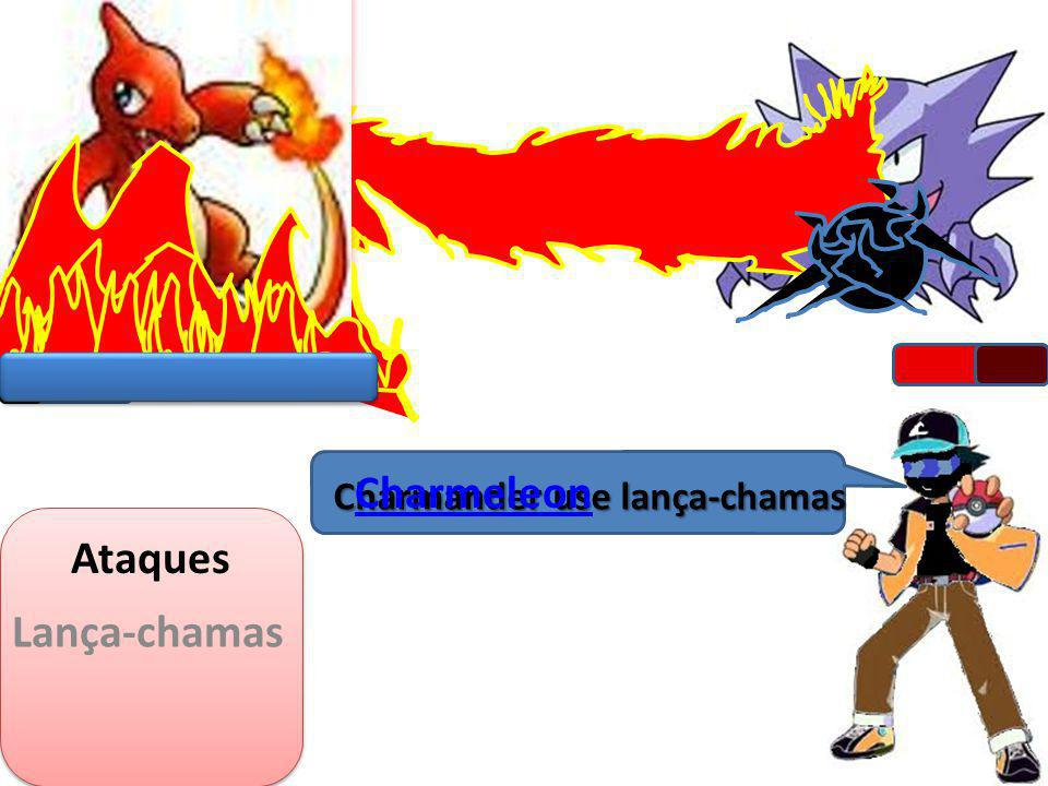 Charmander use lança-chamas