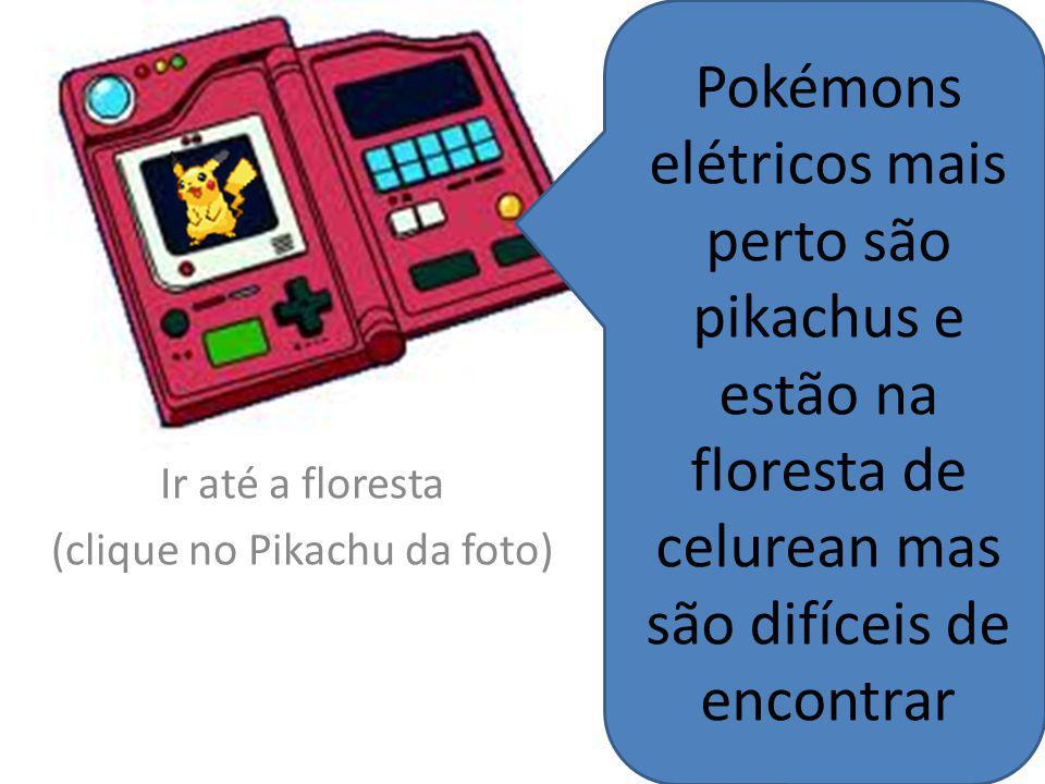 Ir até a floresta (clique no Pikachu da foto)