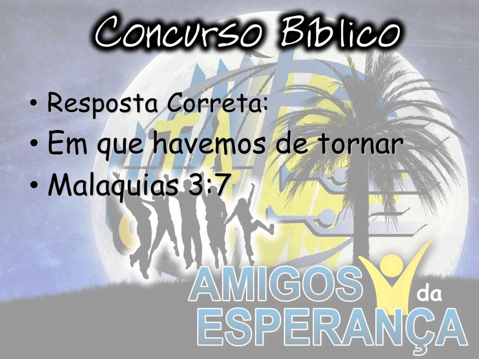 Em que havemos de tornar Malaquias 3:7