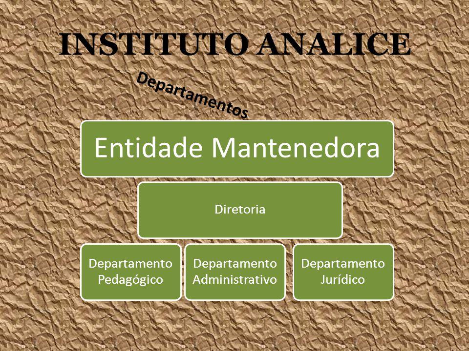 INSTITUTO ANALICE Entidade Mantenedora Departamentos Diretoria