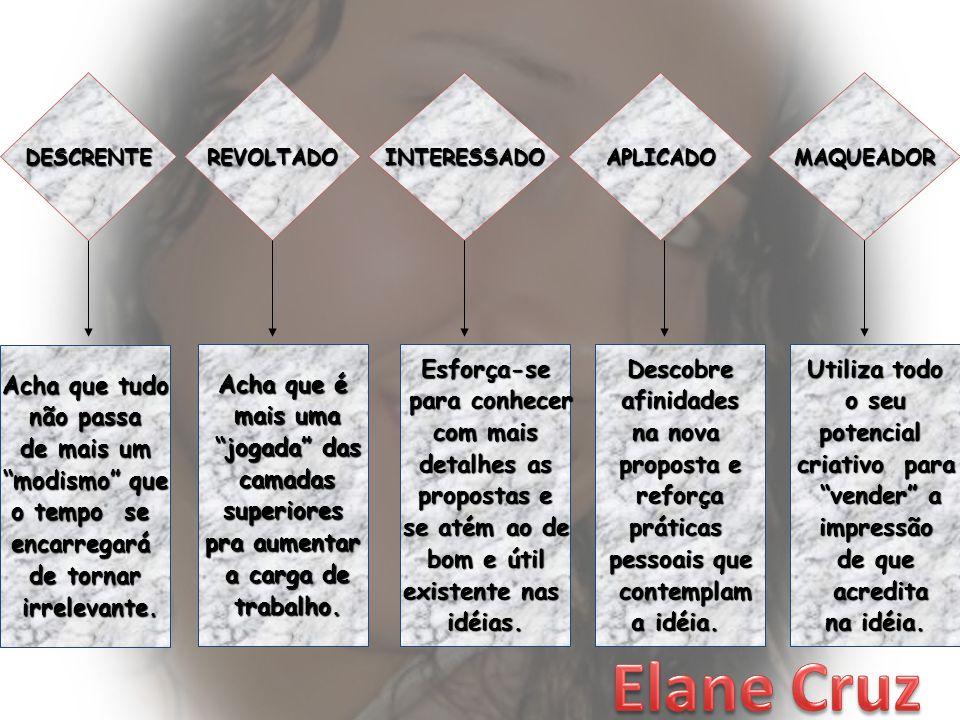 Elane Cruz Acha que tudo não passa de mais um modismo que o tempo se