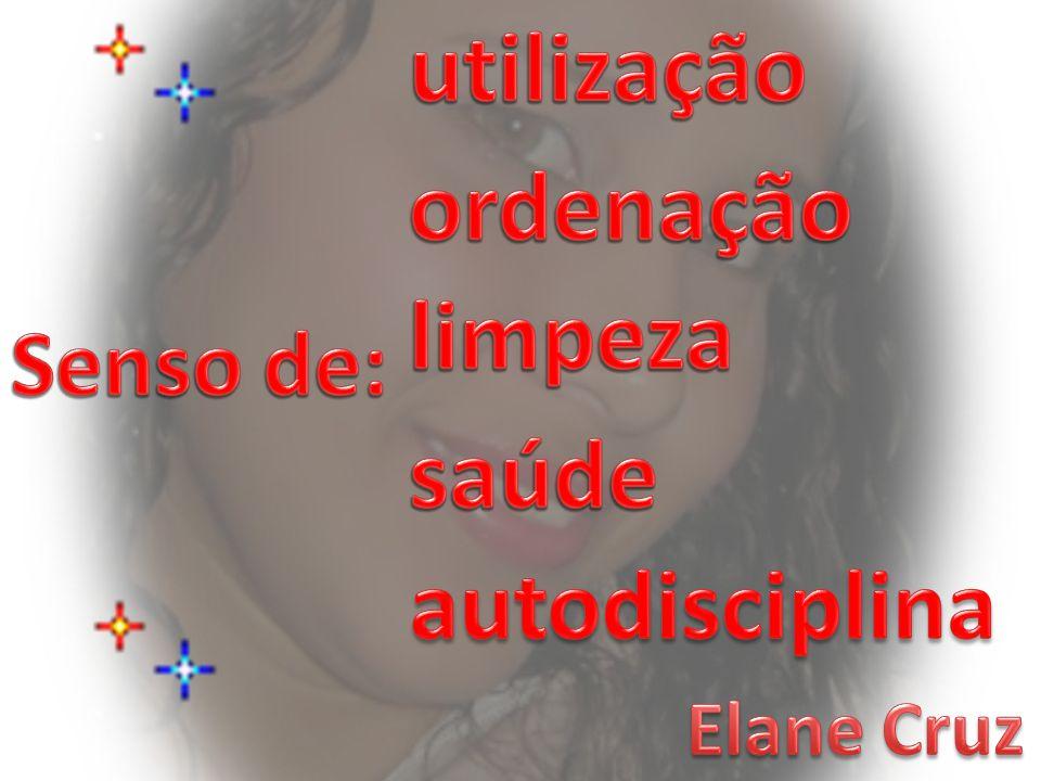 utilização ordenação limpeza Senso de: saúde autodisciplina Elane Cruz