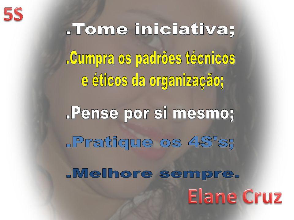 Elane Cruz 5S .Tome iniciativa; .Cumpra os padrões técnicos