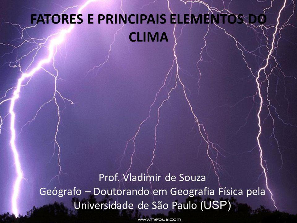 FATORES E PRINCIPAIS ELEMENTOS DO CLIMA