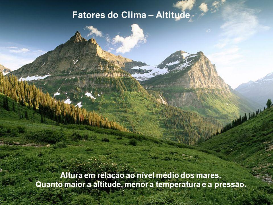 Fatores do Clima – Altitude