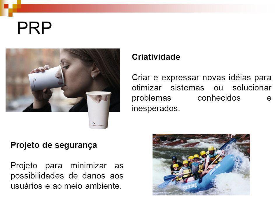 PRP Criatividade. Criar e expressar novas idéias para otimizar sistemas ou solucionar problemas conhecidos e inesperados.