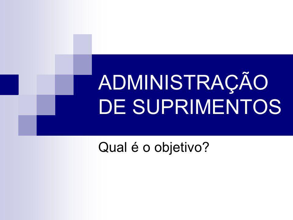 ADMINISTRAÇÃO DE SUPRIMENTOS