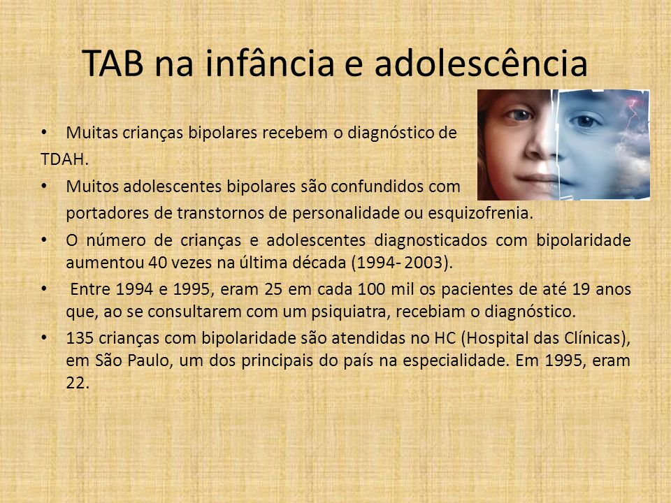 TAB na infância e adolescência
