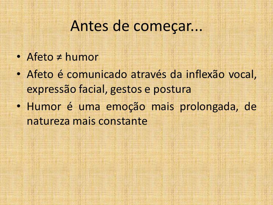 Antes de começar... Afeto ≠ humor