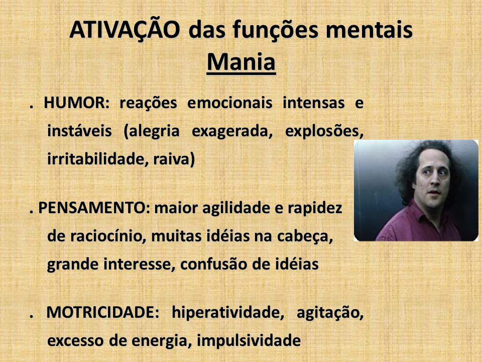 ATIVAÇÃO das funções mentais Mania