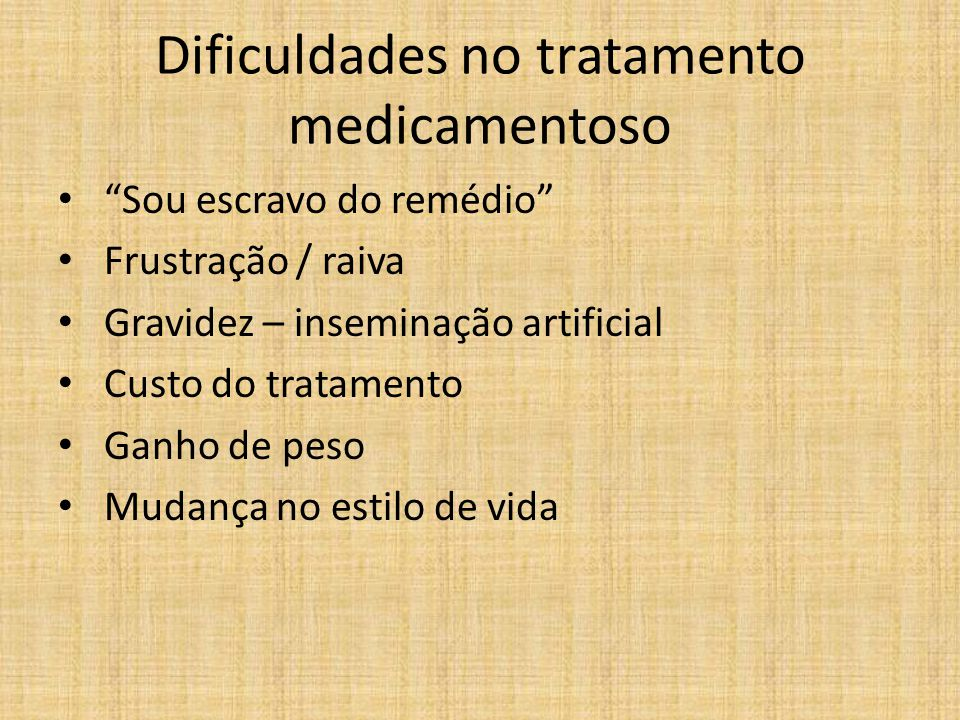 Dificuldades no tratamento medicamentoso