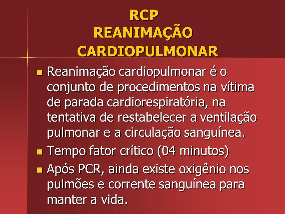 RCP REANIMAÇÃO CARDIOPULMONAR