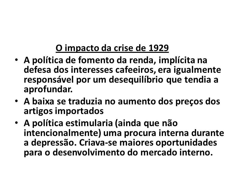 O impacto da crise de 1929