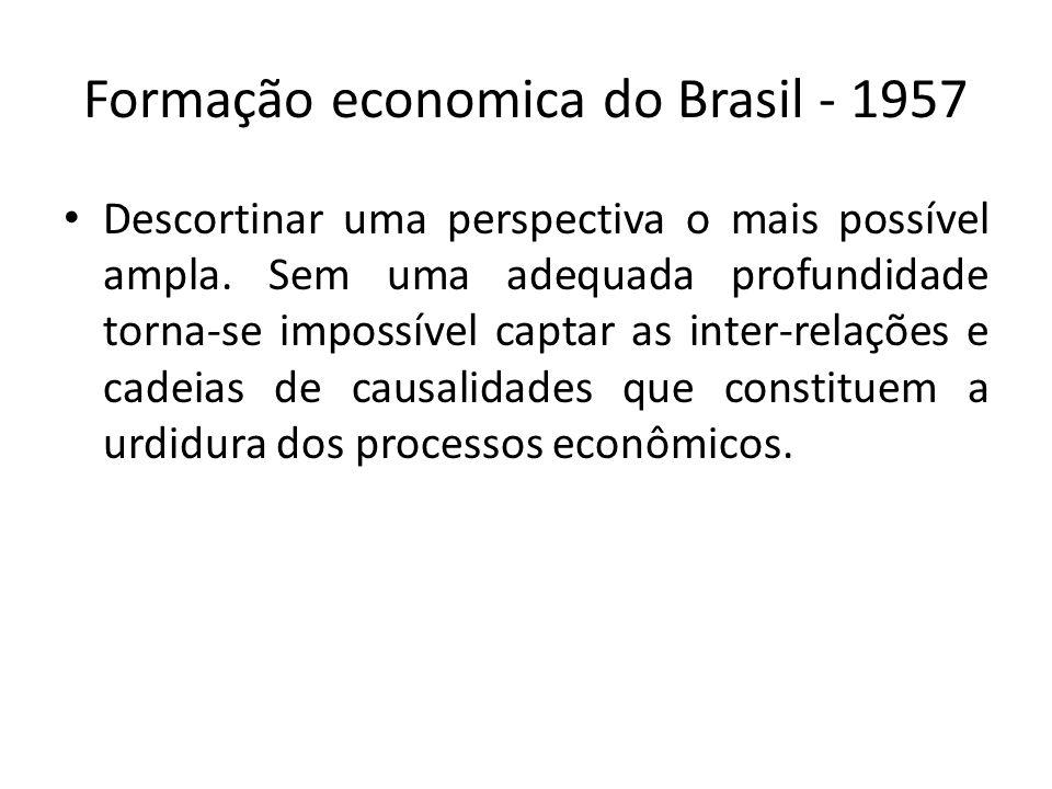 Formação economica do Brasil - 1957
