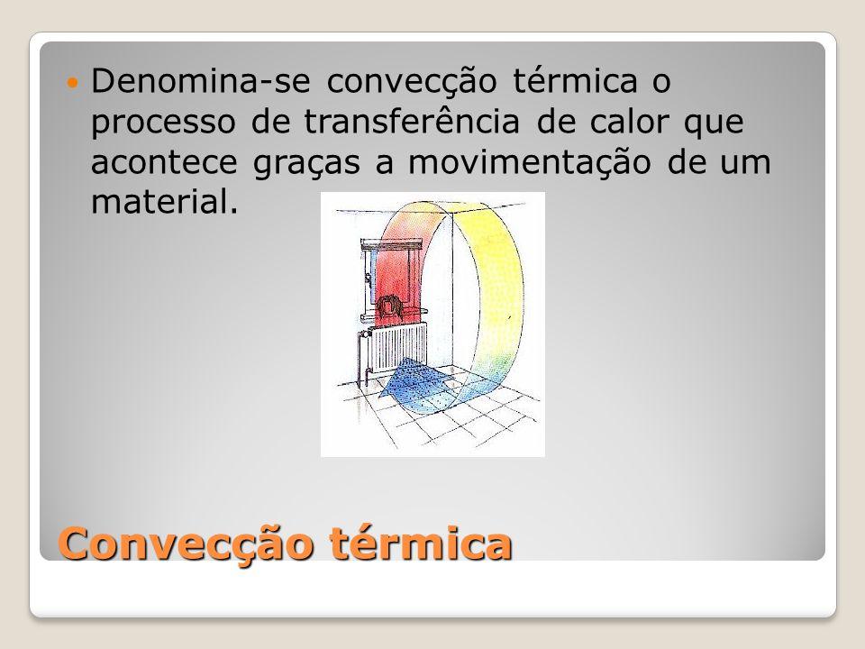 Denomina-se convecção térmica o processo de transferência de calor que acontece graças a movimentação de um material.