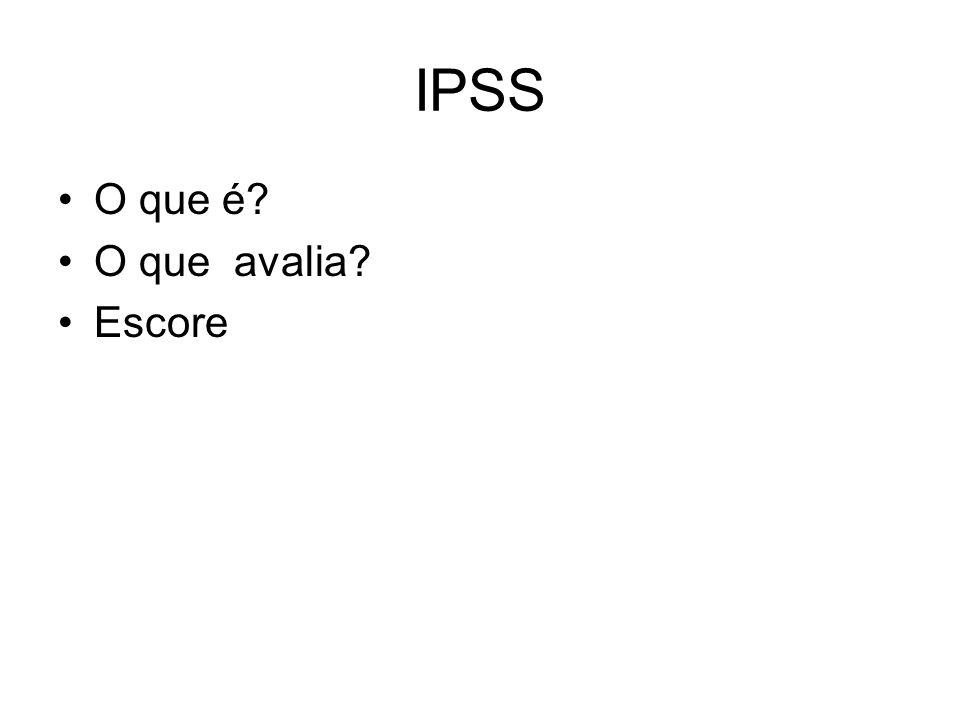 IPSS O que é O que avalia Escore