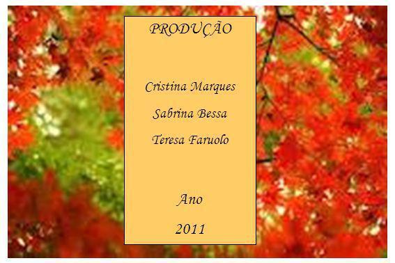 PRODUÇÃO Cristina Marques Sabrina Bessa Teresa Faruolo Ano 2011
