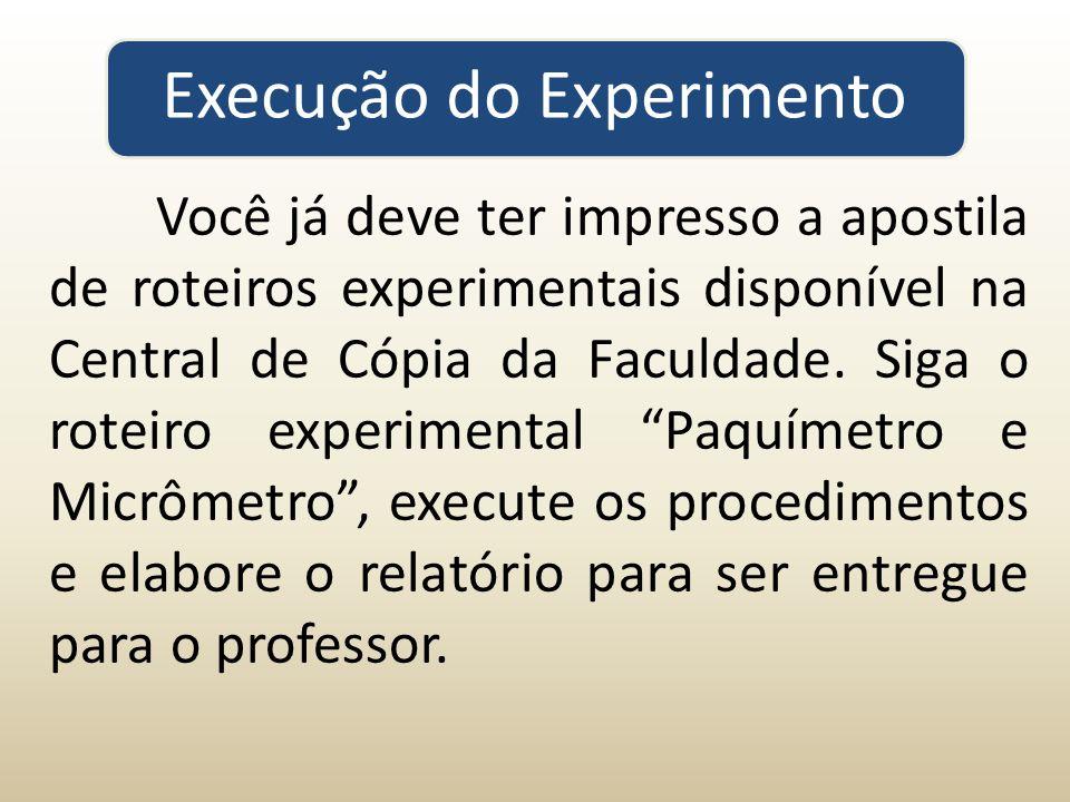 Execução do Experimento