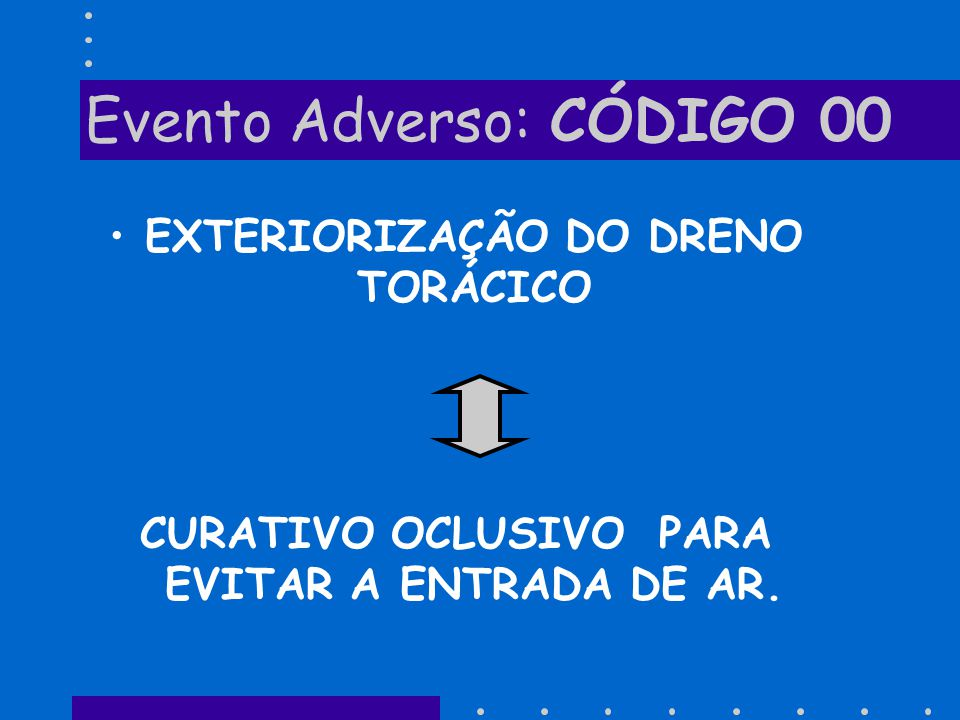 Evento Adverso: CÓDIGO 00