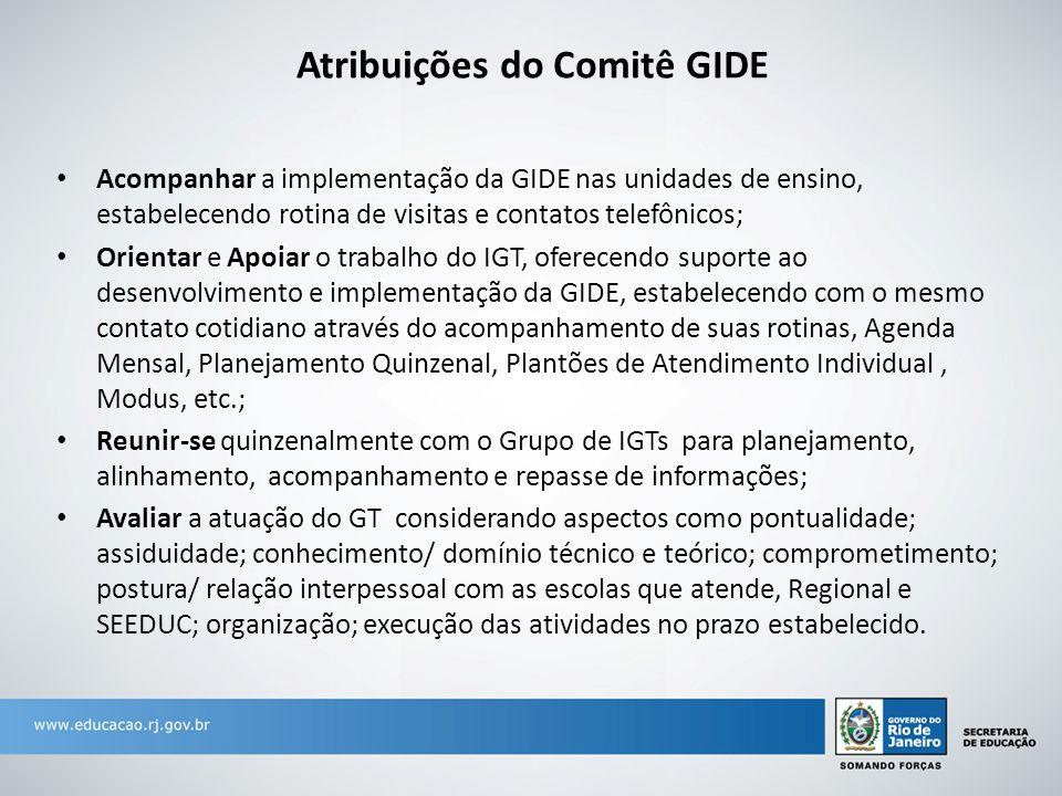 Atribuições do Comitê GIDE