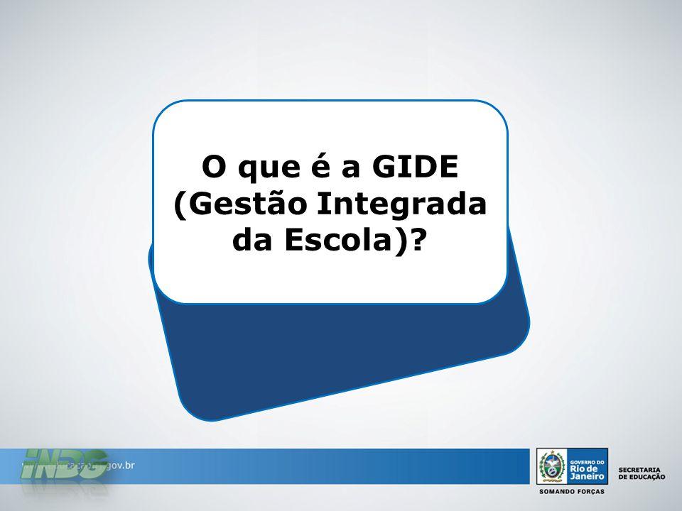 O que é a GIDE (Gestão Integrada da Escola)