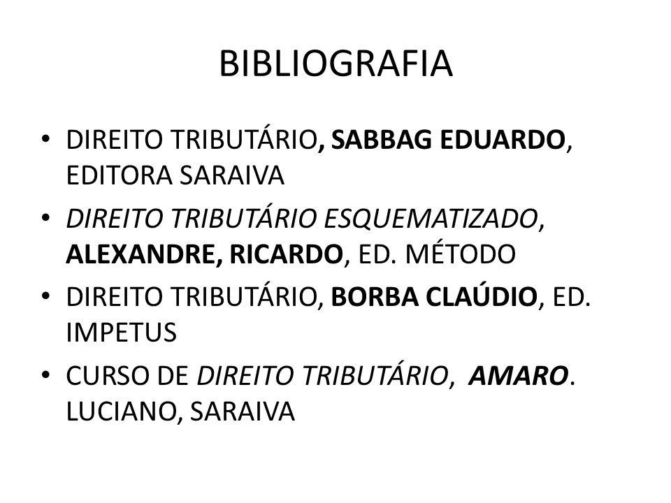 BIBLIOGRAFIA DIREITO TRIBUTÁRIO, SABBAG EDUARDO, EDITORA SARAIVA
