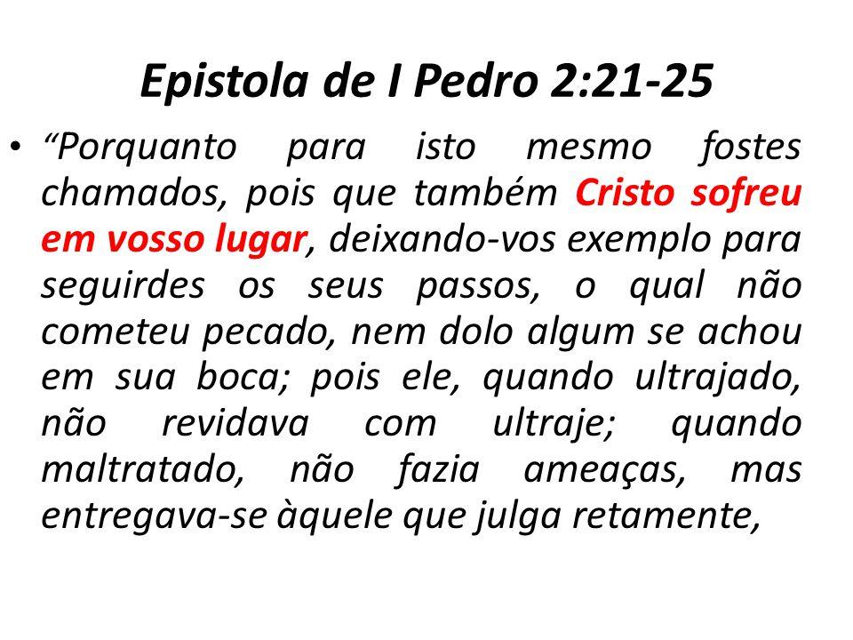 Epistola de I Pedro 2:21-25