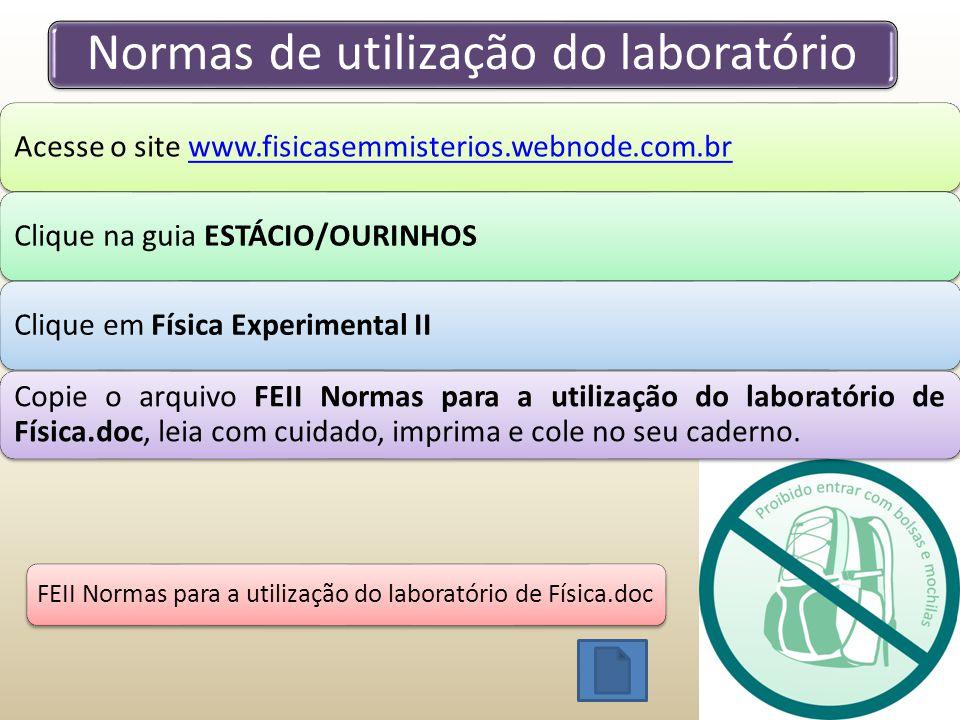 Normas de utilização do laboratório