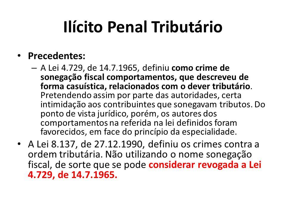 Ilícito Penal Tributário
