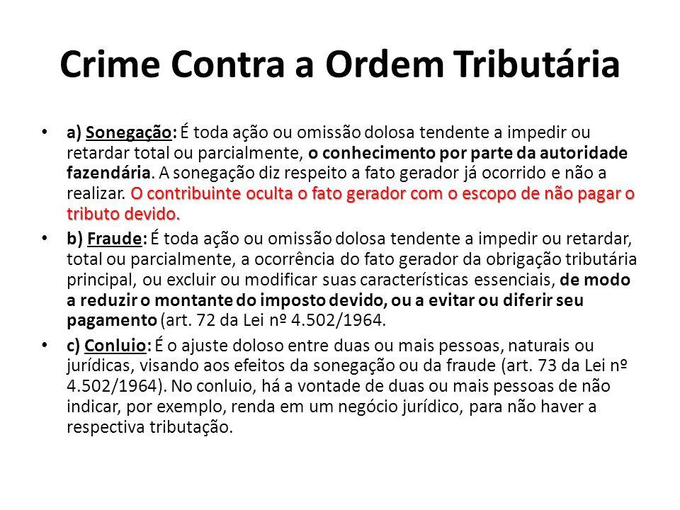 Crime Contra a Ordem Tributária