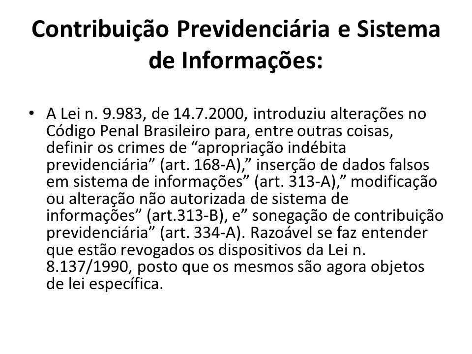 Contribuição Previdenciária e Sistema de Informações: