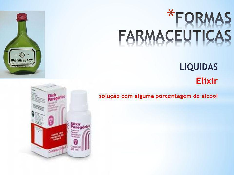 FORMAS FARMACEUTICAS LIQUIDAS Elixir
