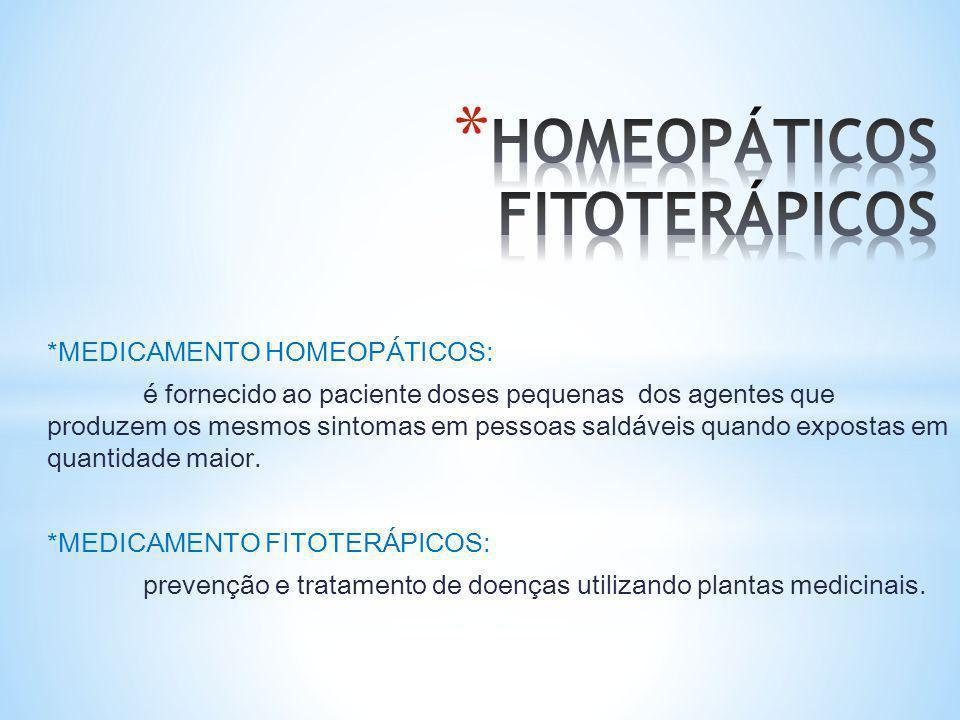 HOMEOPÁTICOS FITOTERÁPICOS
