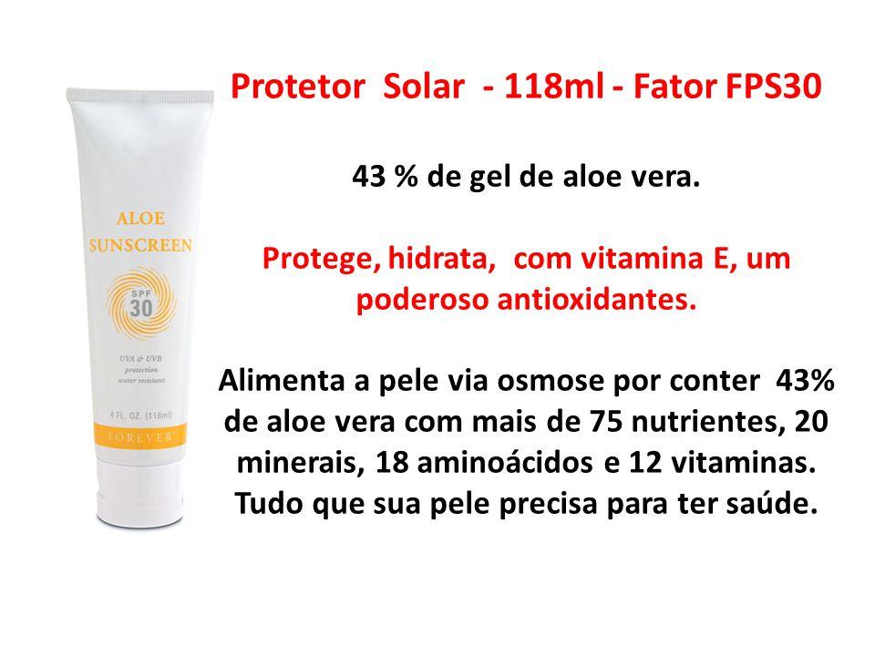 Protetor Solar - 118ml - Fator FPS30 43 % de gel de aloe vera